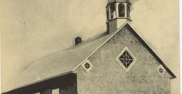 Église et Presbytère de St-Bernard de l'Isle-aux-Coudres, Coll Hoopes, Musée Chx