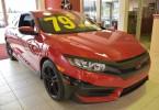 DÉJÀ VENDUE: Civic coupé LX 2016 rouge avec beaucoup d'équipements inclus comme: aileron arrière, déflecteur de capot, démarreur à distance, kit de jupes arrière et latérales, mags. 2250$ de rabais pour seulement 79$ par semaine. Taxes incluses.