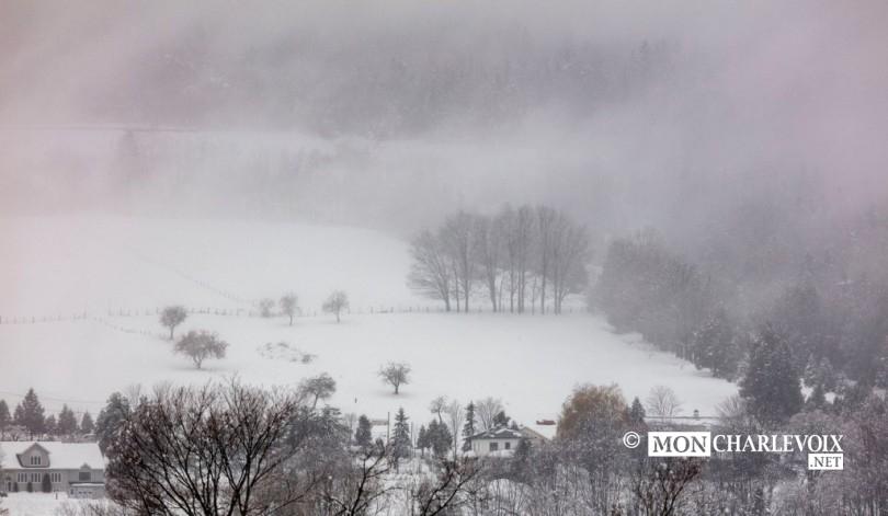 Un paysage bien différent l'hiver...