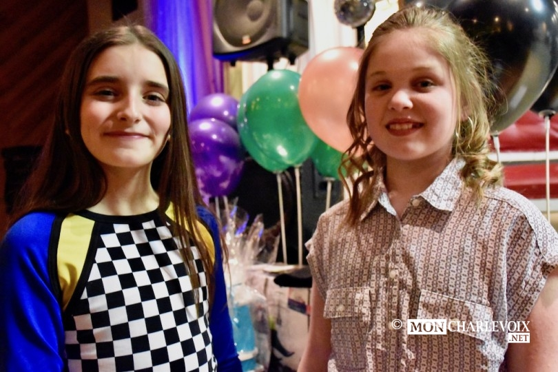 Les animatrices de la soirée Marguerite et Coralie