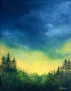 Oeuvre dépliant Johanne Kourie Illumination Huile 18x14 2017-1