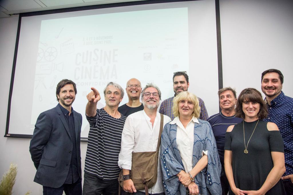 L'équipe derrière le Festival Cuisine, Cinéma & Confidences Crédit photo: Maryse Boyce