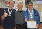 Henrick L.Marc C. et Marcel D.ont réalisé 3 allers-retours ensemble dans la catégorie course-marche