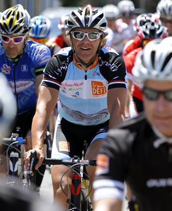 Grand Defi Pierre Lavoie 1000km velo. Etape 7 Quebec a Ste-Marie (QG1) du 16 Juin 2012. Photo : ERIC BOLTE