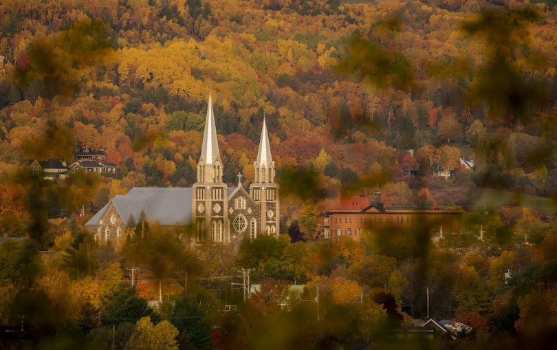 Église de BSP en automne 10 octobre par Chantal Beaulieu