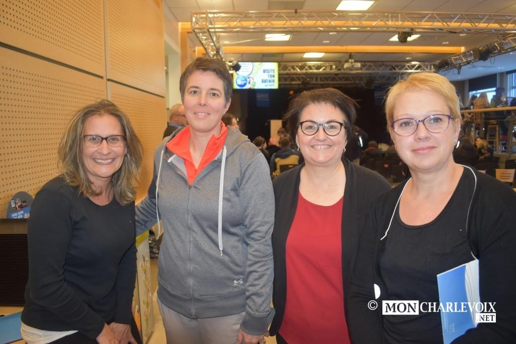 Mélanie Bluteau, Isabelle Tremblay, Marie-Claude Harvey conseillères en orientation, Josée Dolbec, enseignante