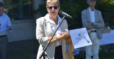 Présidente du Musée de Charlevoix, madame Dufour